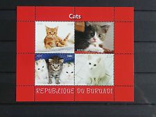 01 Katzen cats Chats Burundi 2011 Haustiere homeanimals Fauna  postfrisch ** MNH