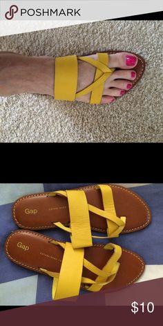 GAP Sandals Sunny yellow leather sandals-never worn GAP Shoes Sandals