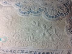 I should do this with my Battenburg Lace table cloth. Jocelyn Atkinson