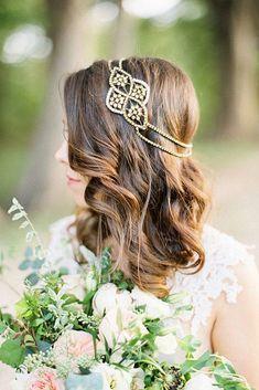 43 ideias de penteados com cabelo solto para noivas