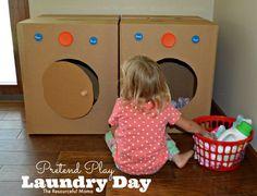 PRETEND Play! Laundry Play! DIY #Family #Kids #Trusper #Tip