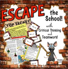 ESCAPE ROOMS/BREAKOUTS Your kids are locked up forever, unless they can use critical thinking, problem-solving skill to set themselves free!