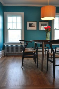 I love that color.... contemplating doing an accent wall in this color...