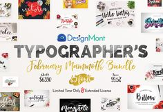inkydeals-typographers-february-mammoth-bundle-preview