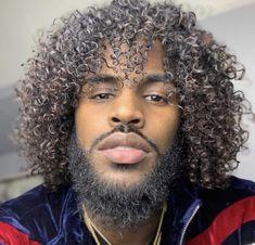 Black Men Hairstyles, Hairstyles Haircuts, Dark Skin Men, Curly Hair Styles, Natural Hair Styles, Black Love Art, Beard Gang, Hair Affair, Dream Hair