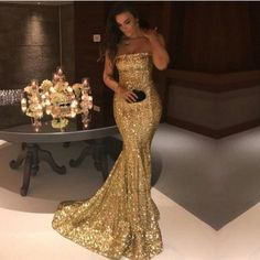 sequins mermaid dress for prom
