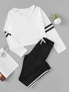 Cute Lazy Outfits, Teenage Outfits, Sporty Outfits, Outfits For Teens, Stylish Outfits, Girls Fashion Clothes, Teen Fashion Outfits, Fashion Ideas, Womens Fashion