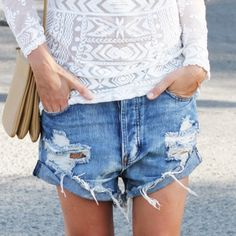 Maybe I can turn my not so cute dumpy shorts into something cooler!