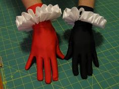 The Literary Assassin: Harley Quinn costume pattern wrist ruffles tutorial