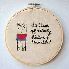 Fan of Arrested Development? Learn how to make this awesome embroidery hoop art in this step-by-step tutorial.