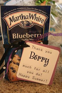THANK YOU BERRY MUCH FOR ALL YOU DO! muffin mix