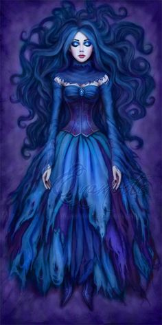 The Deathly Beauty    ( wow if her eyes are green, but there prob blue right ? )