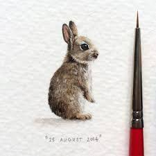 Znalezione obrazy dla zapytania miniature watercolor paintings