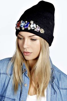 Hollie Statement Mixed Gem Beanie