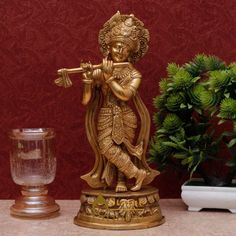 This Krishna statue can be a great gifting option during housewarming parties, birthday parties, festivals, weddings. Bal Gopal, Krishna Statue, Lord Vishnu, Hindu Deities, Indian Gods, Decoration, Mythology, Worship, Sculptures