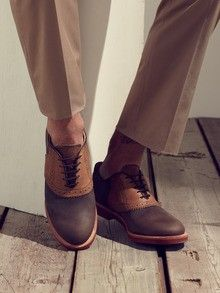 It's hard for most guys to pull off traditional saddle shoes, but these are a modern twist.