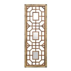 Reclaimed Wood Geometric Mirror, 17.5x50   Kirklands