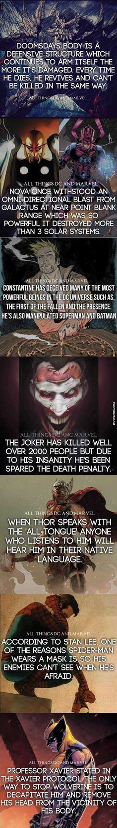 Marvel And DC Comics Facts #comic