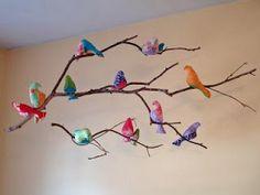 DIY bird mobile