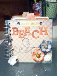 Beach Mini Album - Scrapbook.com I'm some body scrapbook.com pinned my mini album on Pinterest!!!'