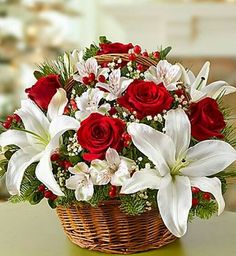Shop Christmas flowers & gifts for delivery to celebrate the season! Find beautiful Christmas floral arrangements and holiday flowers. Christmas Flower Arrangements, Holiday Centerpieces, Christmas Flowers, Beautiful Flower Arrangements, Flower Centerpieces, Floral Arrangements, Beautiful Flowers, Christmas Decorations, Christmas Poinsettia