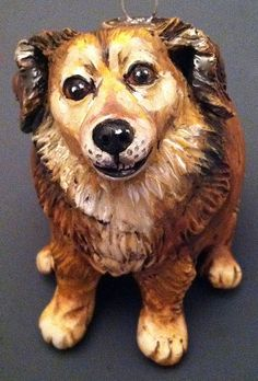 Polymer clay custom dog by doreen kassel, via Flickr