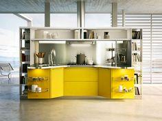 Cucina gialla dal design moderno n.07