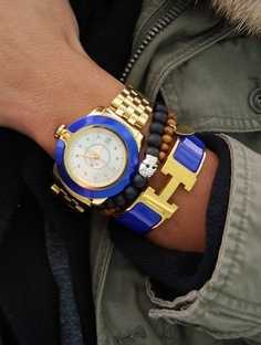 Cobalt And Gold stacking ♥✤ | Keep the Glamour | BeStayBeautiful