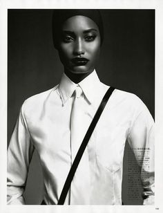 A Two Tone Elegance (Vogue Japan)