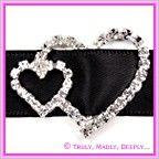 View Diamante Buckle Twin Heart - 15mm Ribbon Slider