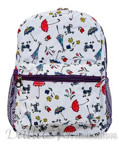 2eecf1cdc8fb Jenzys Girls Poodle Dogs and Umbrellas Mini Toddler Backpack Bag For  Preschool