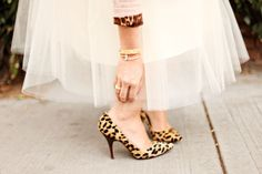 tulle + leopard