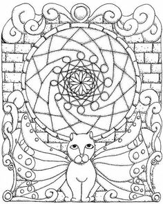 Mandala Madness: A Fun Cat Mandala To Colour Dog Coloring Page, Coloring Book Pages, Printable Coloring Pages, Mandala Printable, Cat Mandala, Mandala Coloring, To Color, Colorful Pictures, Cool Cats