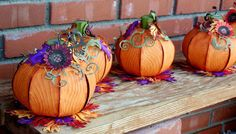 Morning Y'all, I have been working for more than a week on pumpkins for our church dining area tables. Pumpkin Art, Paper Pumpkin, Fall Paper Crafts, Cricut Cuttlebug, Country Fair, Autumn Decorating, Flower Template, Fall Cards, Autumn Inspiration