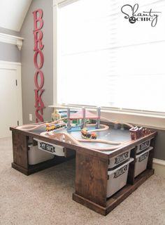 DIY Train or Lego Table: playroom