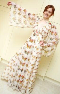Ossie Clark Celia Birtwell Print maxi dress