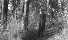 Sibelius walking in the woods.