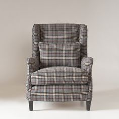 Stephenson Chair Slipcover | Library Plaid Wool | Schoolhouse Electric & Supply Co. - hearty-home.com