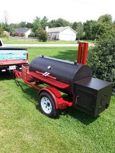 www.bbqlikeaboss.com - TS-250 tank style smoker, 60''x30'' thick wall fire box. Offset reverse flow