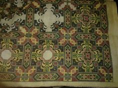 Rug Inspiration, Needlepoint, Bohemian Rug, Cross Stitches, Embroidery Ideas, Crafts, Ornament, Fabrics, Patterns