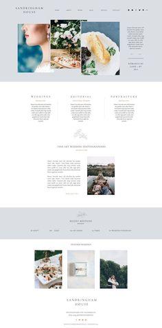SANDRINGHAM HOUSE SHOWIT WEBSITE TEMPLATE | Customizable Website | Fine Art Photography Portfolio | Wedding Website | Harper Maven Design | harpermavenshop.com