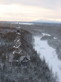 Dr. Seuss House in Winter