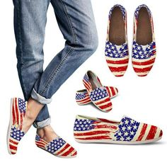WOMENs CASUAL CANVAS SLIP ONs