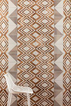 Brasiliana-Tile-Collection-4-tribal. Brasilian: wood tile that explore periods of Brasilian history