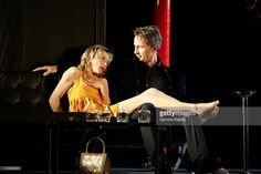Rehearsal Of 'Biography Without Antoinette' With Thierry Lhermitte And Sylvie Testud At Theatre De La Madeleine In Paris, France On October 16, 2007 Sylvie Testud and Thierry Lhermitte.