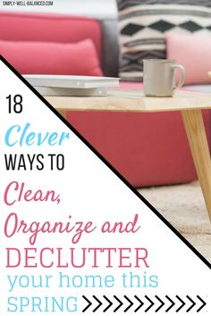 Hacks to get your house clean and organized quickly. Simple tips for decluttering that are perfect for your Spring Cleaning Checklist. Spring Cleaning Checklist, Car Cleaning Hacks, Cleaning Solutions, Deep Cleaning, Cleaning Routines, Homemade Shower Cleaner, D House, Declutter Your Home, Professional Cleaning