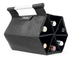 Wine Racks - ZEbag Ultimate Wine Bottle Carrying Case Carry up to 6 bottles at once for Use As Bag or Bar Mode Black -- You can get more details by clicking on the image.