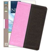 NIV and KJV Side-by-Side Bible, Large Print,  Italian Duo-Tone, Orchid/Chocolate - Slightly Imperfect