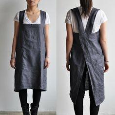 i before e: Natural handmade smock apron