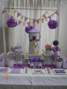 Cumples Tematicos: Cumple de Rapunzel para Mora Rapunzel Birthday Party, Tangled Party, Tangled Rapunzel, Disney Princess Party, 3rd Birthday Parties, Princess Birthday, Birthday Decorations, Baby Shower Decorations, Little Girl Birthday